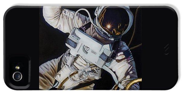 Moon iPhone 5 Cases - Gemini IV- Ed White iPhone 5 Case by Simon Kregar