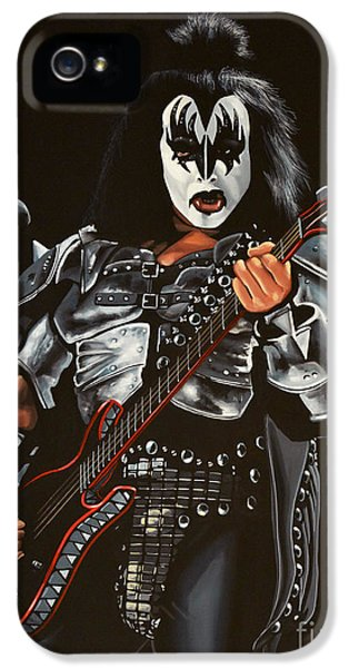 Idols iPhone 5 Cases - Gene Simmons of Kiss iPhone 5 Case by Paul Meijering