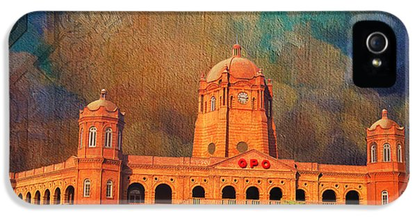 Pakistan iPhone 5 Cases - General Post Office Lahore iPhone 5 Case by Catf
