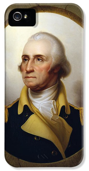 American Revolution iPhone 5 Cases - General Washington at the Battle of Princeton iPhone 5 Case by War Is Hell Store