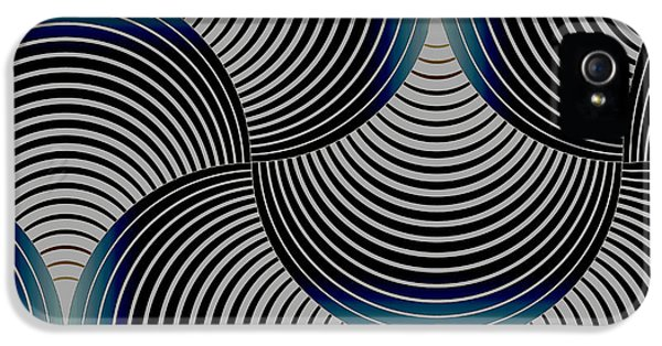 Curve iPhone 5 Cases - Geometric Gymnastic - s01-055 iPhone 5 Case by Variance Collections