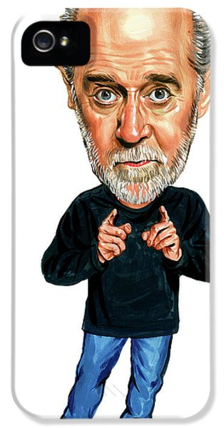 Famous People iPhone 5 Cases - George Carlin iPhone 5 Case by Art