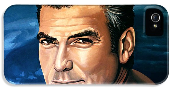 Sight iPhone 5 Cases - George Clooney 2 iPhone 5 Case by Paul  Meijering