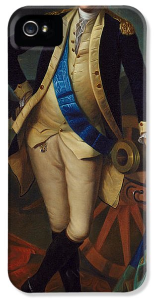 Independence Day iPhone 5 Cases - George Washington iPhone 5 Case by Charles Wilson Peale