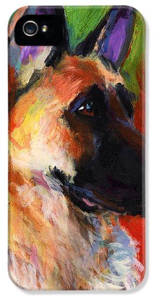 Order iPhone 5 Cases - German Shepherd Dog portrait iPhone 5 Case by Svetlana Novikova