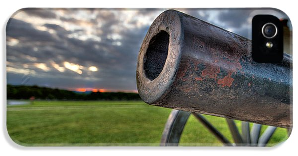War iPhone 5 Cases - Gettysburg Canon Closeup iPhone 5 Case by Andres Leon