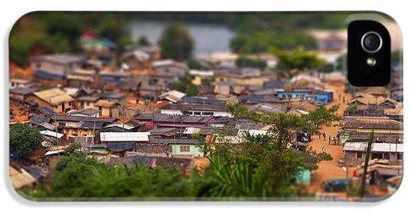 Shanty iPhone 5 Cases - Ghanaian Village iPhone 5 Case by Samuel Whitton