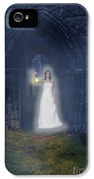 Ghost iPhone 5 Cases - Ghost At The Abbey iPhone 5 Case by Amanda And Christopher Elwell