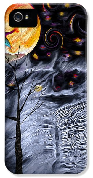 Witch On Broomstick iPhone 5 Cases - Ghost House 2 - Composite iPhone 5 Case by Steve Ohlsen