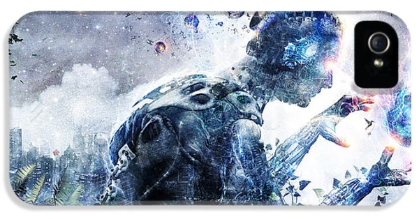 Mech iPhone 5 Cases - Ghosts Of The Concrete World iPhone 5 Case by Cameron Gray