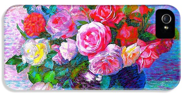 Colourful iPhone 5 Cases - Gift of Roses iPhone 5 Case by Jane Small