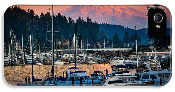 Pacific Northwest iPhone 5 Cases - Gig Harbor Dusk iPhone 5 Case by Inge Johnsson