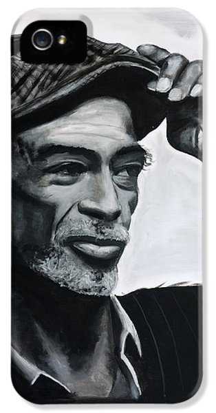 Gil iPhone 5 Cases - Gil Scott-Heron iPhone 5 Case by Harry Moses