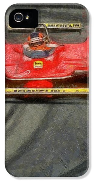 Schumi iPhone 5 Cases - Gilles drift iPhone 5 Case by Tano V-Dodici ArtAutomobile