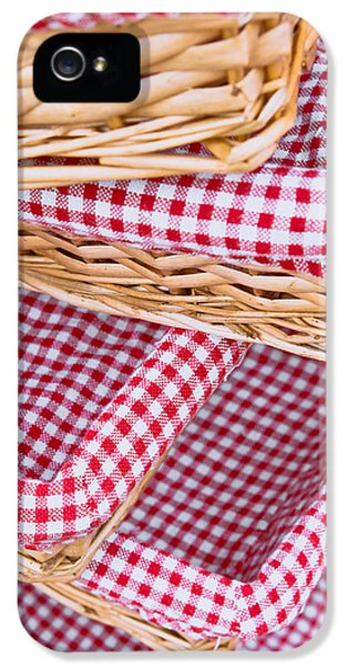 Fibre iPhone 5 Cases - Gingham baskets iPhone 5 Case by Tom Gowanlock