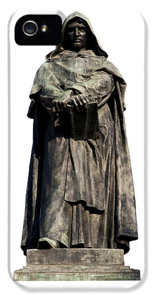 Cut-out iPhone 5 Cases - Giordano Bruno iPhone 5 Case by Fabrizio Troiani