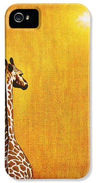 Environment iPhone 5 Cases - Giraffe Looking Back iPhone 5 Case by Jerome Stumphauzer