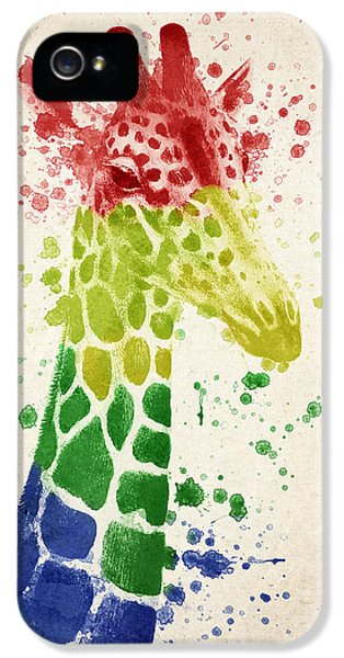 Giraffe Splash IPhone 5 / 5s Case by Aged Pixel