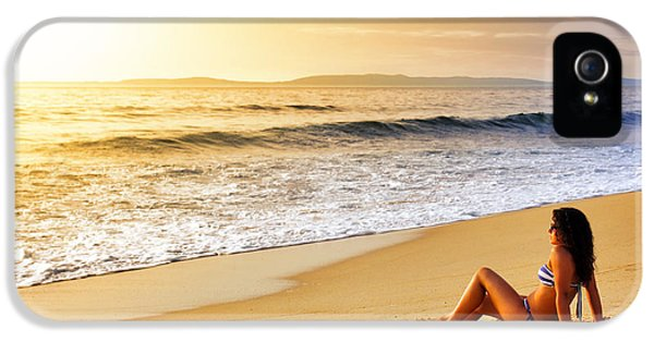 Attractive iPhone 5 Cases - Girl on Seashore  iPhone 5 Case by Carlos Caetano