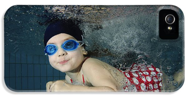 Children Only iPhone 5 Cases - Girl Swimming Underwater iPhone 5 Case by Hagai Nativ