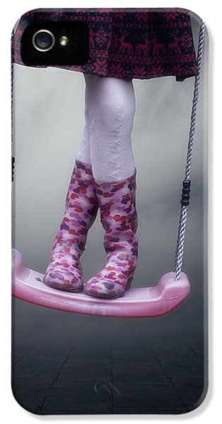 Stockings iPhone 5 Cases - Girl Swinging iPhone 5 Case by Joana Kruse