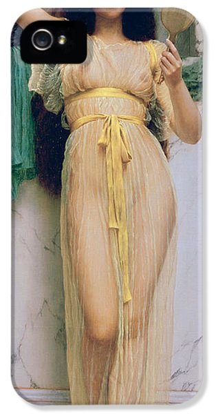 Nudity iPhone 5 Cases - Girl with a Mirror iPhone 5 Case by John William Godward