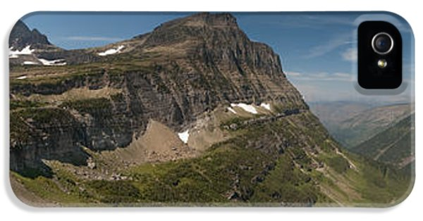 Snow iPhone 5 Cases - Glacier National Park Panorama iPhone 5 Case by Sebastian Musial