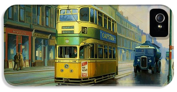 Old Tram iPhone 5 Cases - Glasgow tram. iPhone 5 Case by Mike  Jeffries