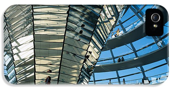 Restoration iPhone 5 Cases - Glass Dome Reichstag Berlin Germany iPhone 5 Case by Panoramic Images