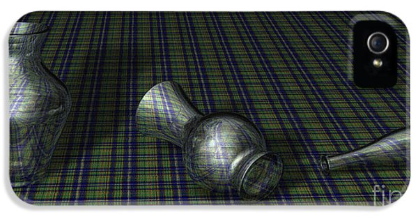 Admin Prints iPhone 5 Cases - Glass Still Life - Tartan - AMCG - 27032013 iPhone 5 Case by Michael C Geraghty