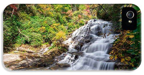 River iPhone 5 Cases - Glen Falls in North Carolina iPhone 5 Case by Andres Leon