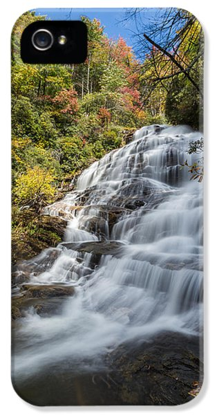 Natural iPhone 5 Cases - Glen Falls North Carolina Vertical iPhone 5 Case by Andres Leon
