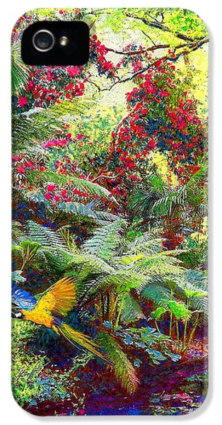 Flowering iPhone 5 Cases - Glimpse of Paradise iPhone 5 Case by Jane Small