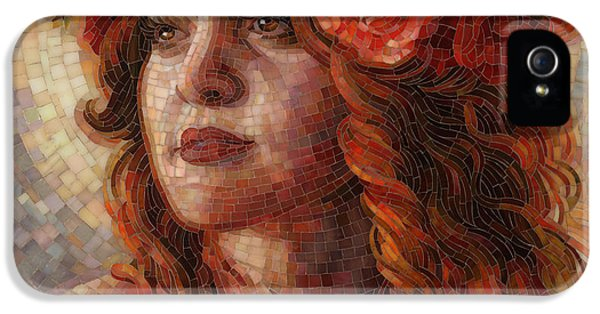 Mosaic iPhone 5 Cases - Glory iPhone 5 Case by Mia Tavonatti