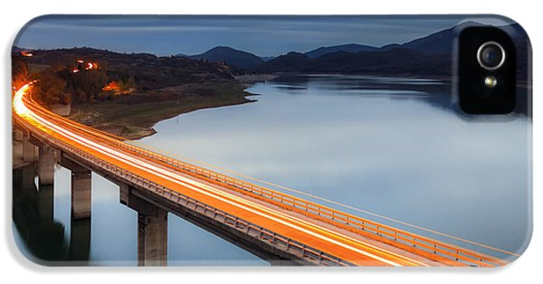 Road iPhone 5 Cases - Glowing Bridge iPhone 5 Case by Evgeni Dinev