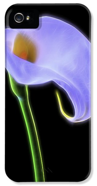 Glowing iPhone 5 Cases - Glowing Calla Lily iPhone 5 Case by Garry Gay