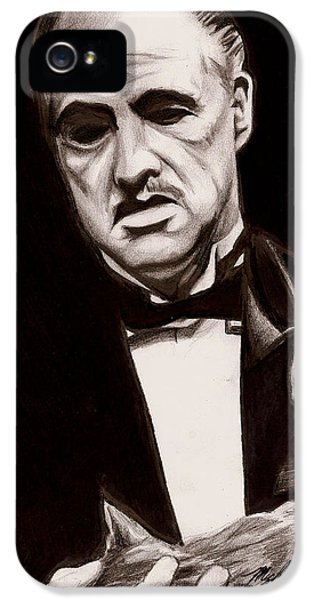 Francis Ford Coppola iPhone 5 Cases - Godfather iPhone 5 Case by Michael Mestas