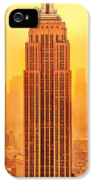 Empire iPhone 5 Cases - Golden Empire State iPhone 5 Case by Az Jackson