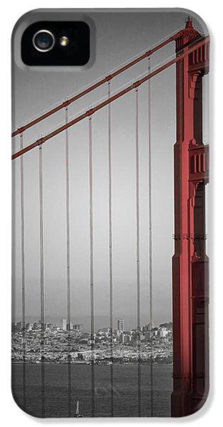 Golden Gate Bridge - Downtown View IPhone 5 / 5s Case by Melanie Viola