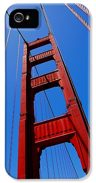 Steel iPhone 5 Cases - Golden Gate Tower iPhone 5 Case by Rona Black