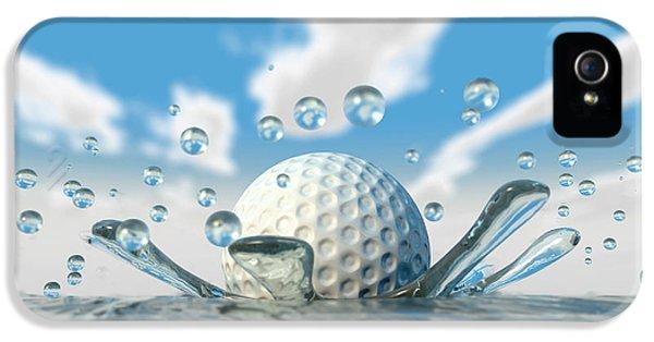 Golf Ball Water Splash IPhone 5 / 5s Case by Allan Swart