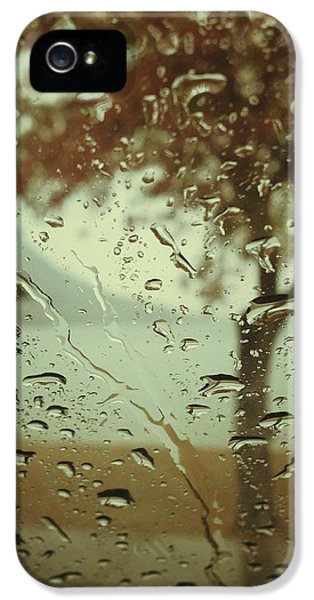 Rain.window iPhone 5 Cases - Gone Then Rain iPhone 5 Case by Jerry Cordeiro