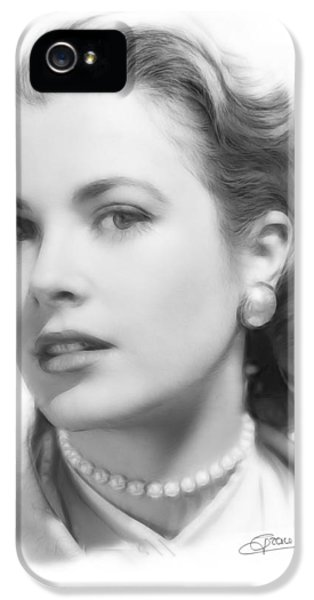 Grace Kelly Pencil IPhone 5 / 5s Case by Steve K