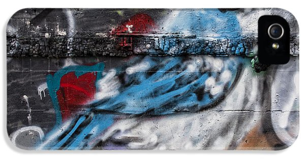 Graffiti iPhone 5 Cases - Graffiti Bluejay iPhone 5 Case by Carol Leigh