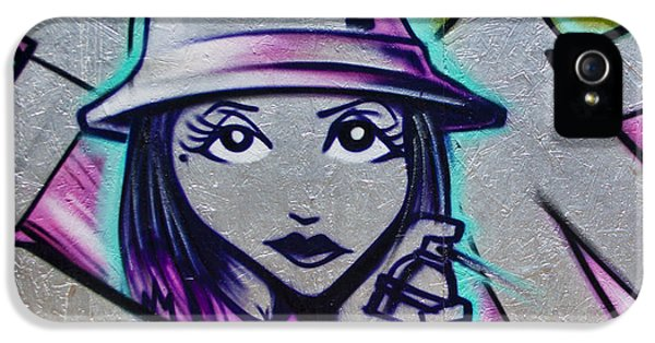 Graffiti iPhone 5 Cases - Graffiti Detail iPhone 5 Case by Carol Leigh