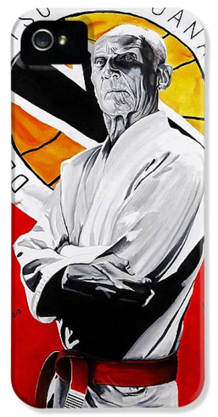 Family iPhone 5 Cases - Grand Master Helio Gracie iPhone 5 Case by Brian Broadway
