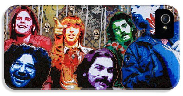 Casey iPhone 5 Cases - Grateful Dead  iPhone 5 Case by Gary Kroman