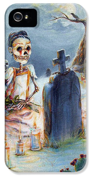 Death iPhone 5 Cases - Grave Sight iPhone 5 Case by Heather Calderon