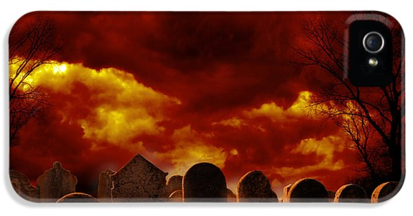 Burial iPhone 5 Cases - Graveyard iPhone 5 Case by Jelena Jovanovic