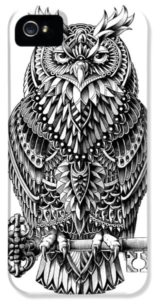 Wise iPhone 5 Cases - Great Horned Owl iPhone 5 Case by BioWorkZ